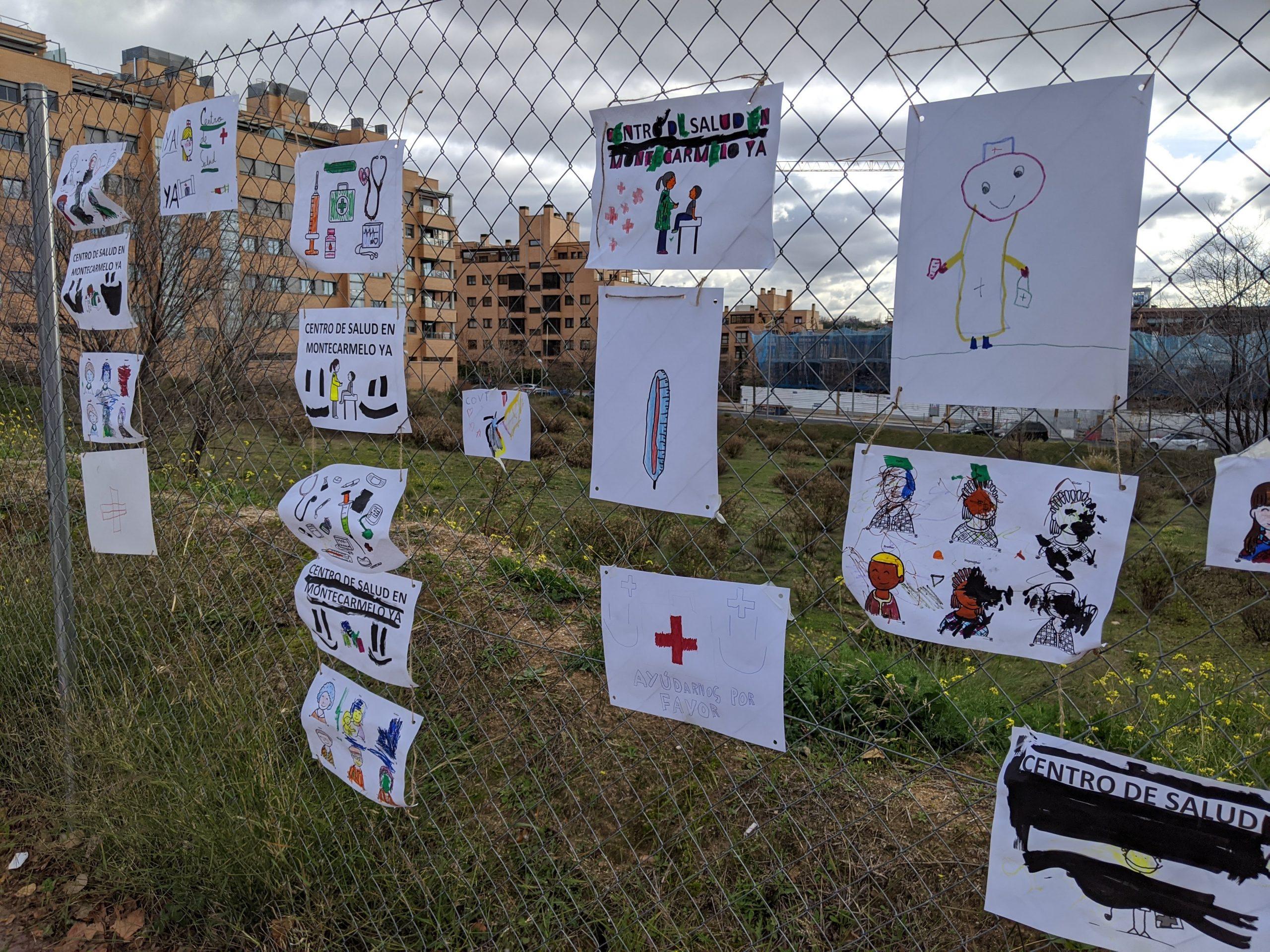 Concentración por un centro de salud en Montecarmelo