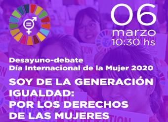 Desayuno-Debate día Internacional de la Mujer 2020