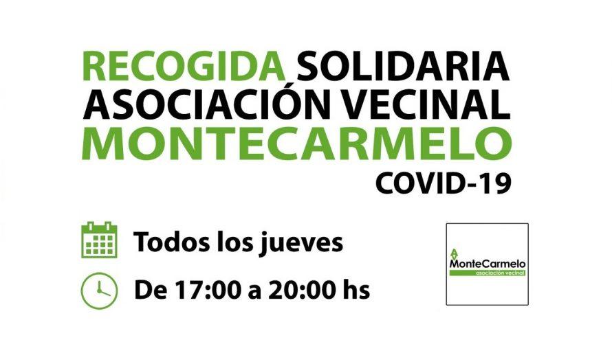 Recogida solidaria de alimentos en el local de la AV Montecarmelo